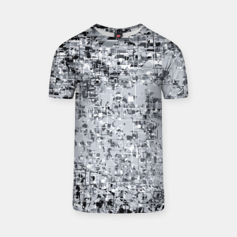 geometric pattern abstract in black and white T-shirt thumbnail image