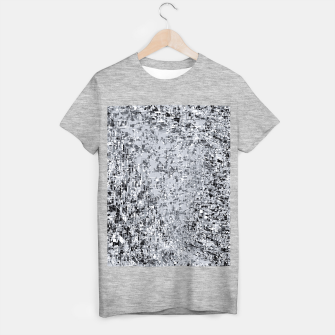geometric pattern abstract in black and white T-shirt regular thumbnail image