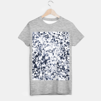 geometric square pattern abstract background in black and white T-shirt regular Bild der Miniatur