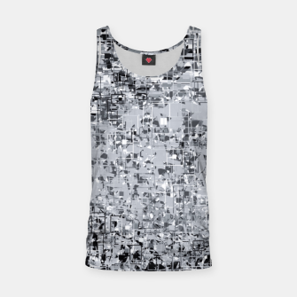 geometric pattern abstract in black and white Tank Top thumbnail image