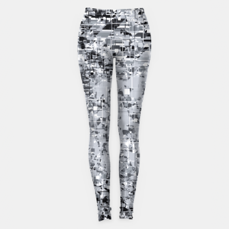 geometric pattern abstract in black and white Leggings thumbnail image