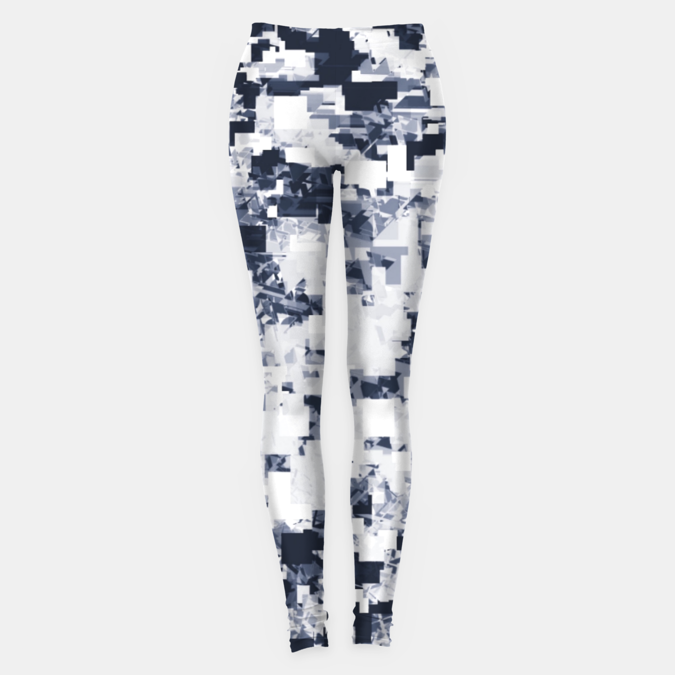 Image of geometric square pattern abstract background in black and white Leggings - Live Heroes