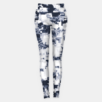 Miniatur geometric square pattern abstract background in black and white Leggings, Live Heroes