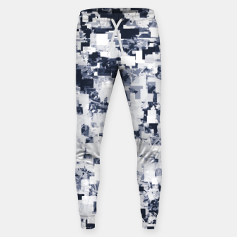 Miniatur geometric square pattern abstract background in black and white Sweatpants, Live Heroes