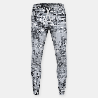 geometric pattern abstract in black and white Sweatpants thumbnail image