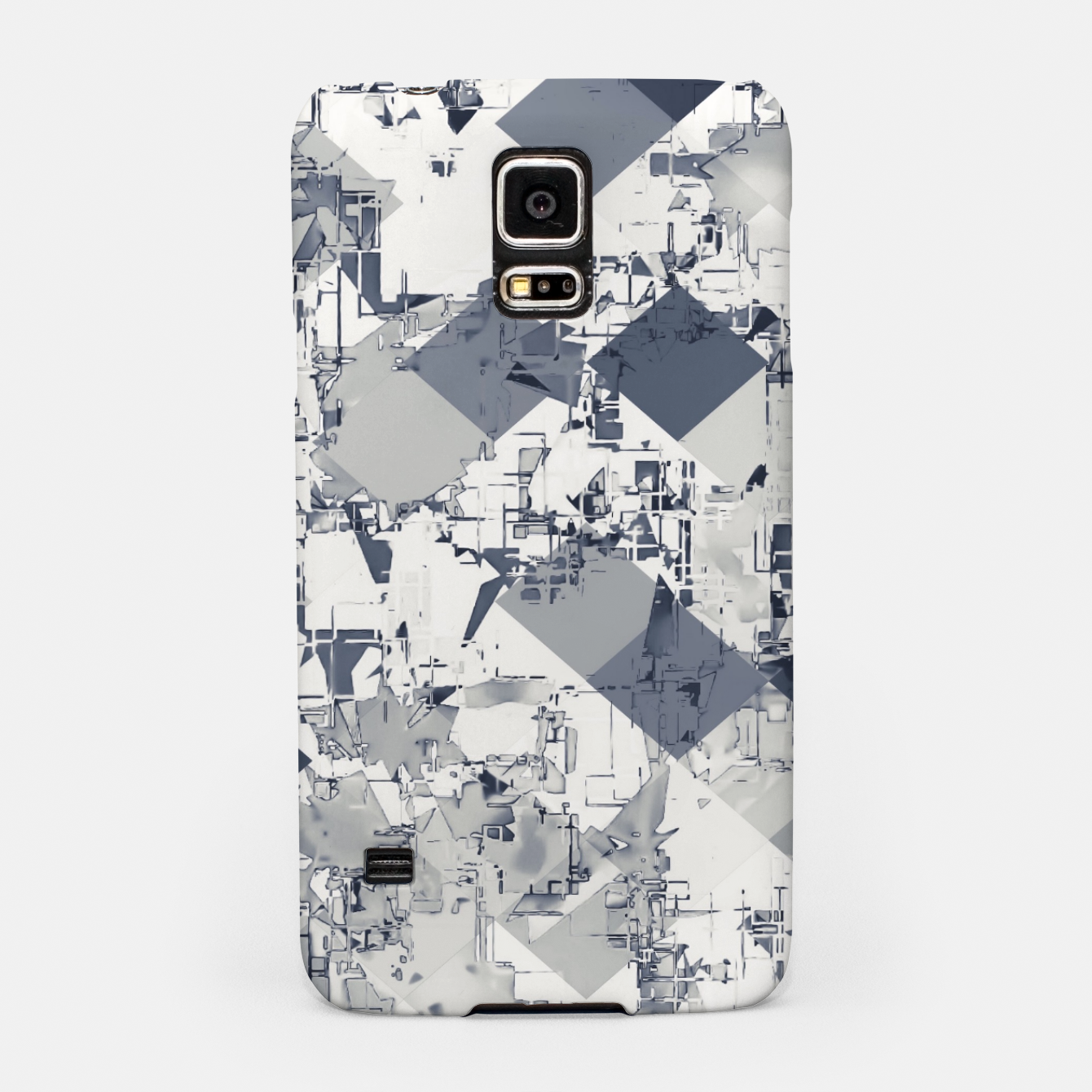Image of geometric square pixel pattern abstract in black and white Samsung Case - Live Heroes
