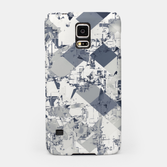 geometric square pixel pattern abstract in black and white Samsung Case thumbnail image