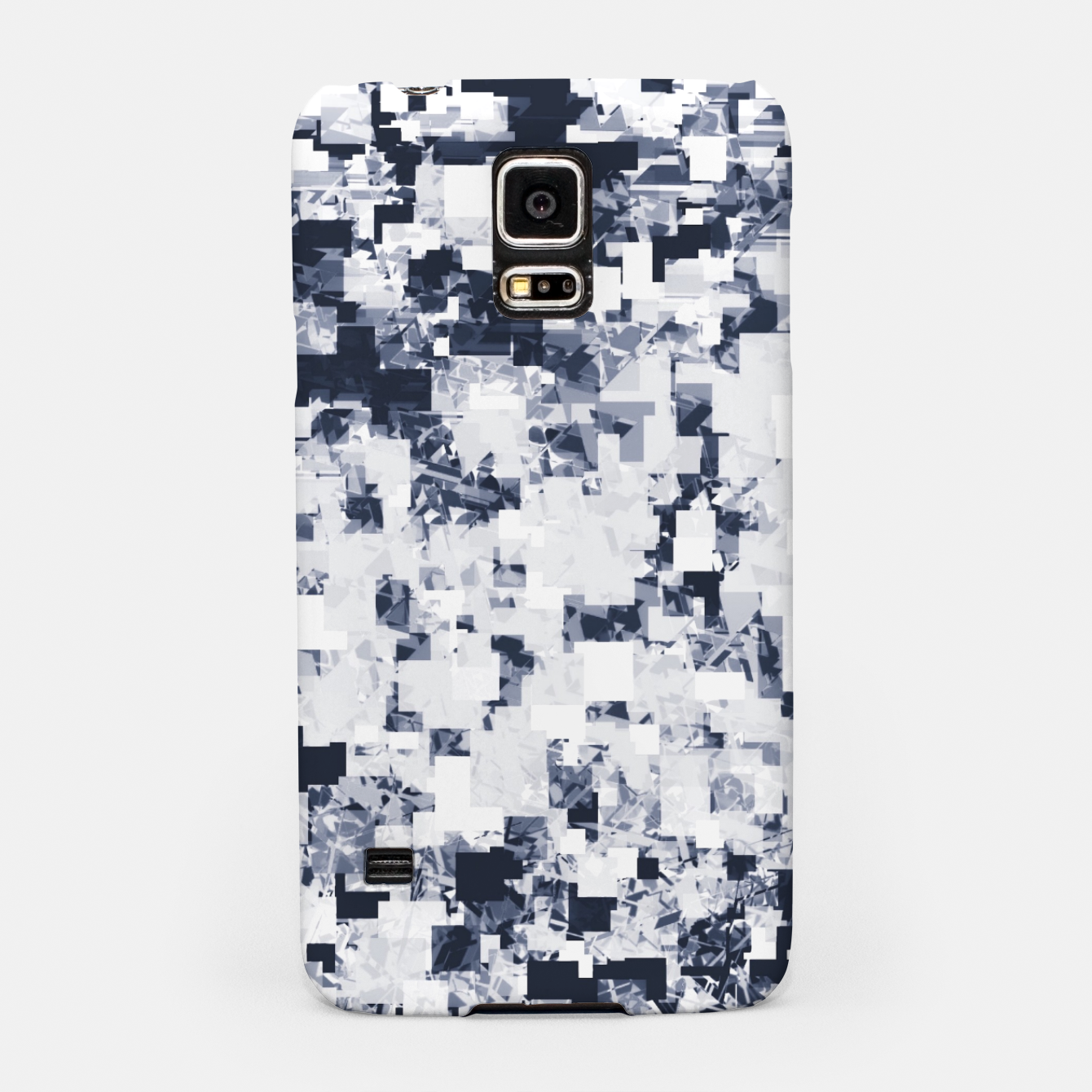 Foto geometric square pattern abstract background in black and white Samsung Case - Live Heroes