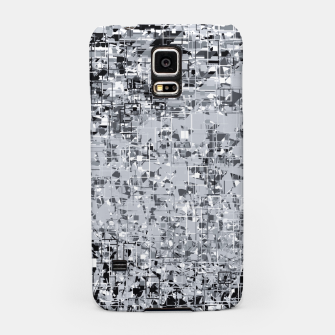 geometric pattern abstract in black and white Samsung Case thumbnail image