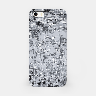 Miniature de image de geometric pattern abstract in black and white iPhone Case, Live Heroes