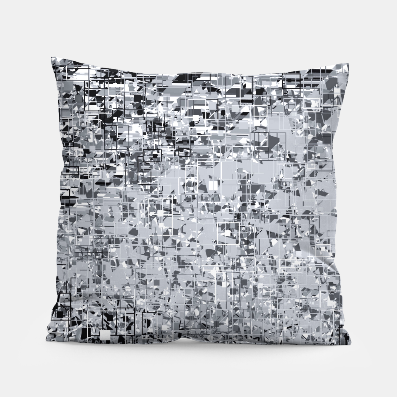 Foto geometric pattern abstract in black and white Pillow - Live Heroes