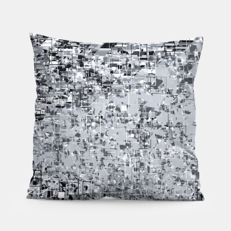 Miniatur geometric pattern abstract in black and white Pillow, Live Heroes