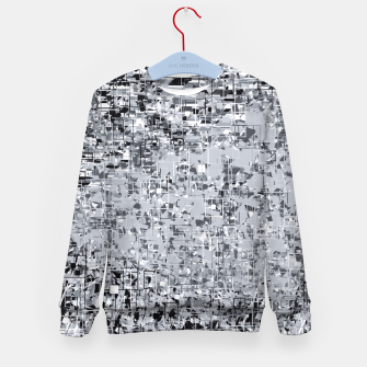 Miniatur geometric pattern abstract in black and white Kid's sweater, Live Heroes