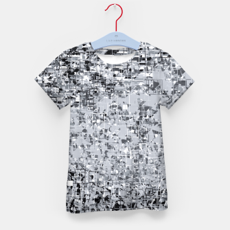 geometric pattern abstract in black and white Kid's t-shirt thumbnail image