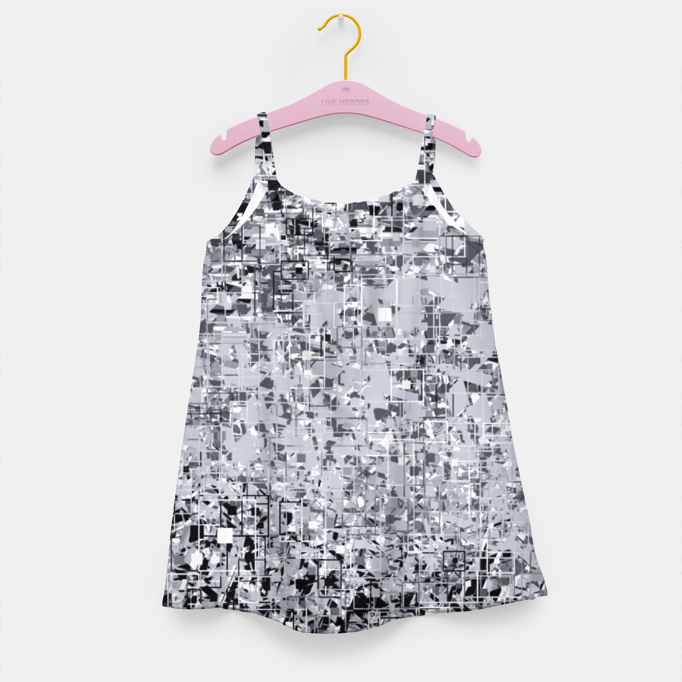 Image of geometric pattern abstract in black and white Girl's dress - Live Heroes