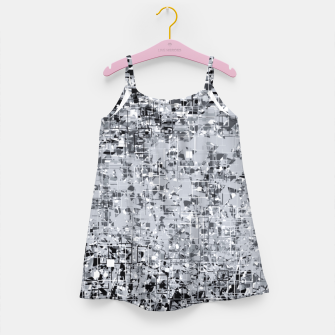 geometric pattern abstract in black and white Girl's dress thumbnail image
