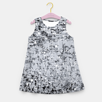 Miniatur geometric pattern abstract in black and white Girl's summer dress, Live Heroes