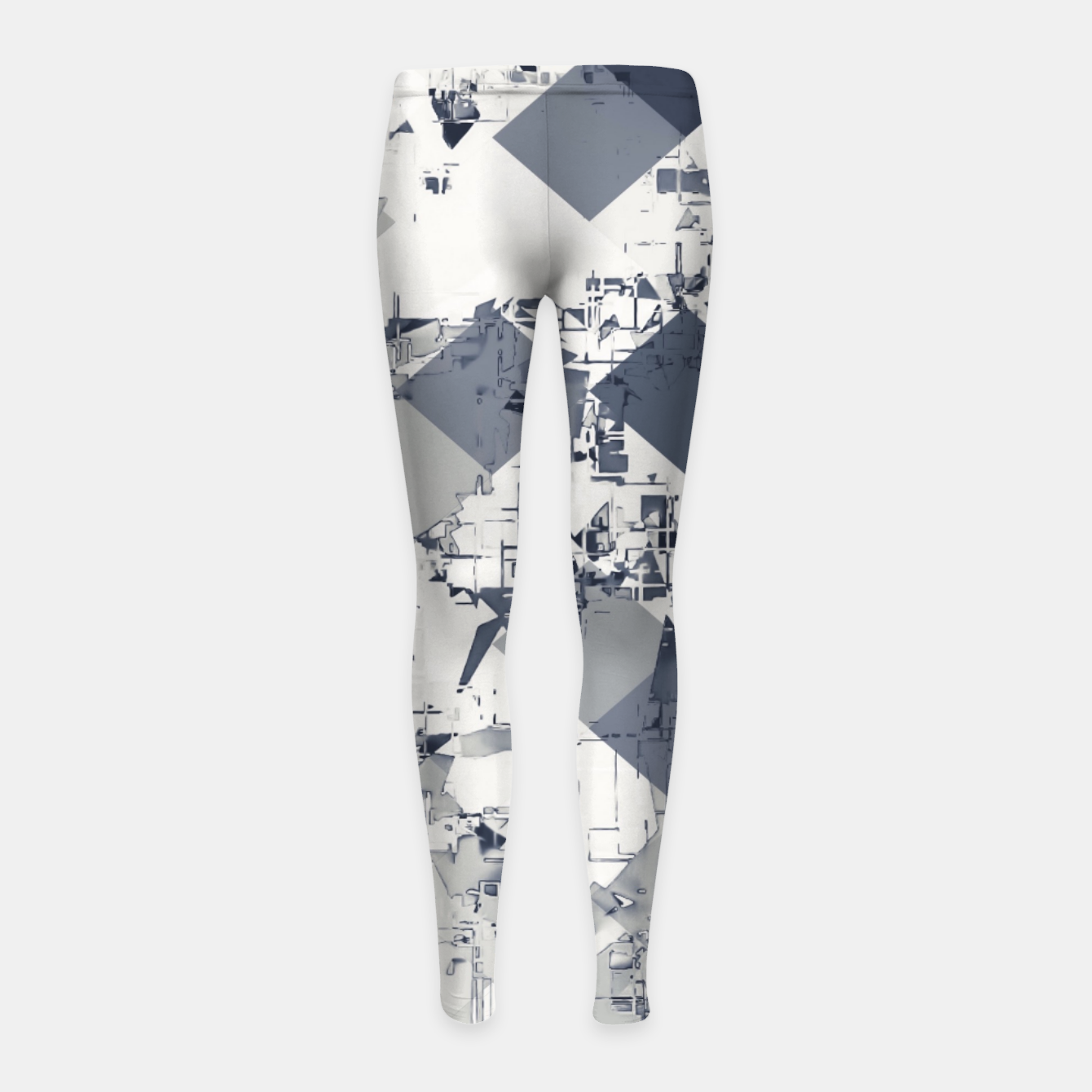 Foto geometric square pixel pattern abstract in black and white Girl's leggings - Live Heroes