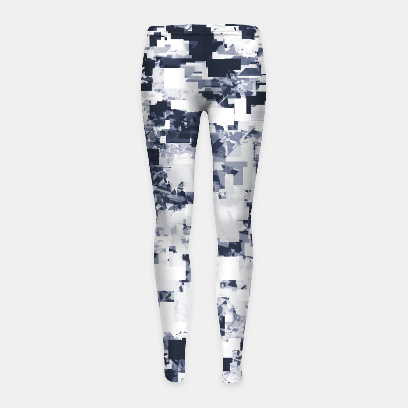 Foto geometric square pattern abstract background in black and white Girl's leggings - Live Heroes