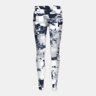 Thumbnail image of geometric square pattern abstract background in black and white Girl's leggings, Live Heroes