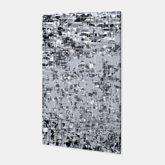 Miniatur geometric pattern abstract in black and white Canvas, Live Heroes