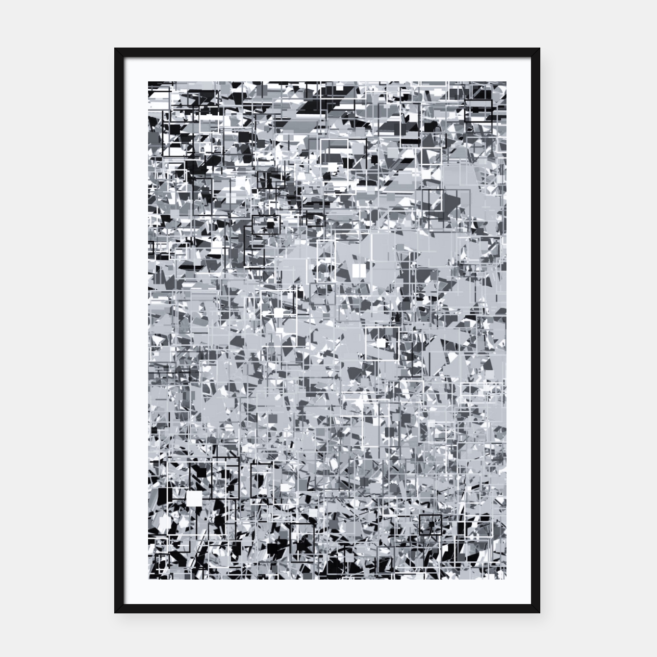 Foto geometric pattern abstract in black and white Framed poster - Live Heroes