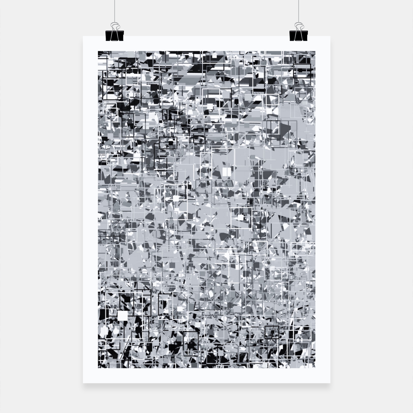 Image of geometric pattern abstract in black and white Poster - Live Heroes