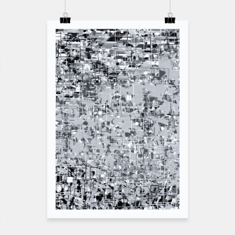 geometric pattern abstract in black and white Poster thumbnail image