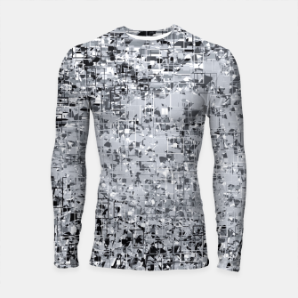 Miniatur geometric pattern abstract in black and white Longsleeve rashguard , Live Heroes