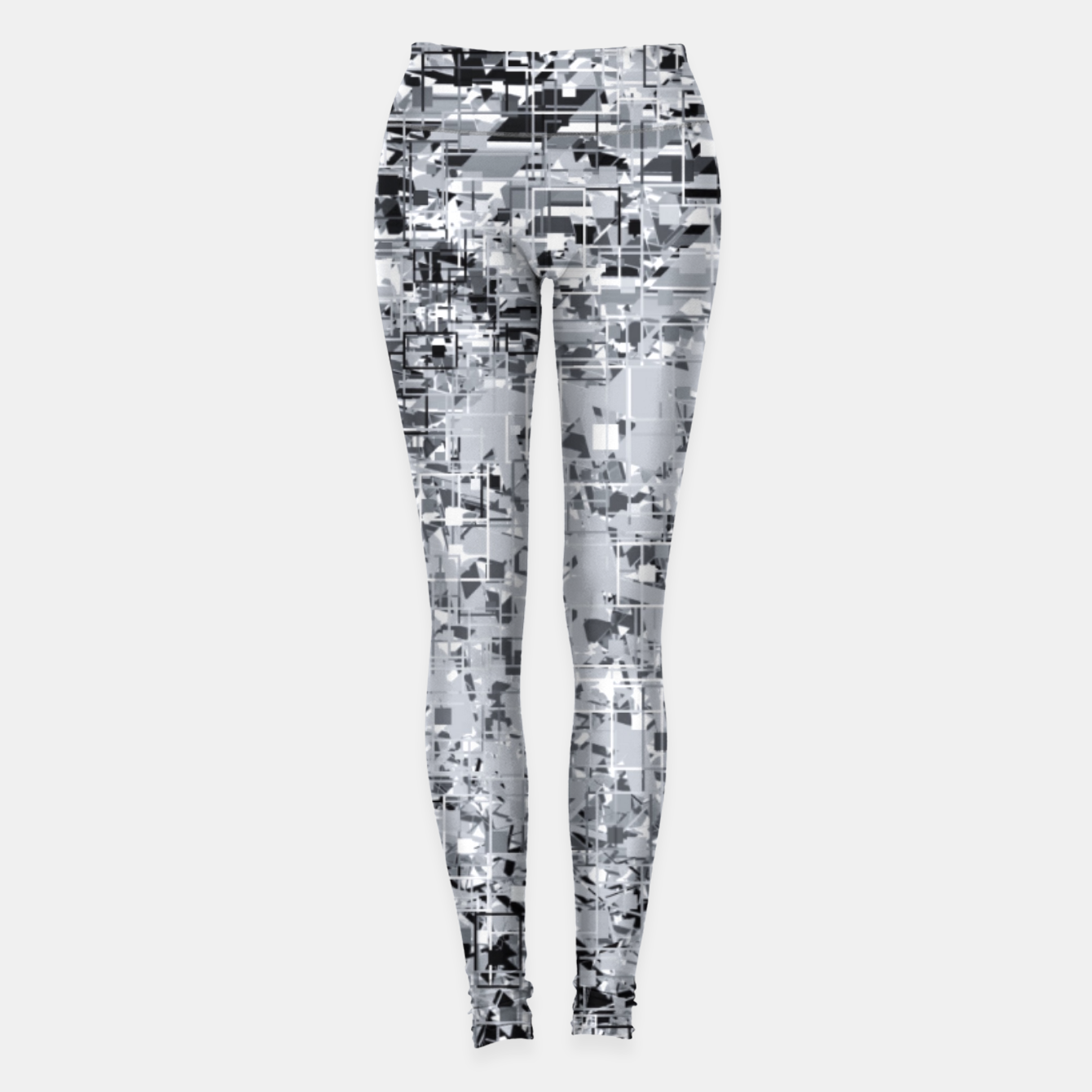 Image of geometric pattern abstract in black and white Leggings - Live Heroes
