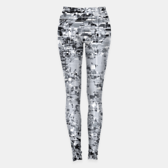 Miniatur geometric pattern abstract in black and white Leggings, Live Heroes