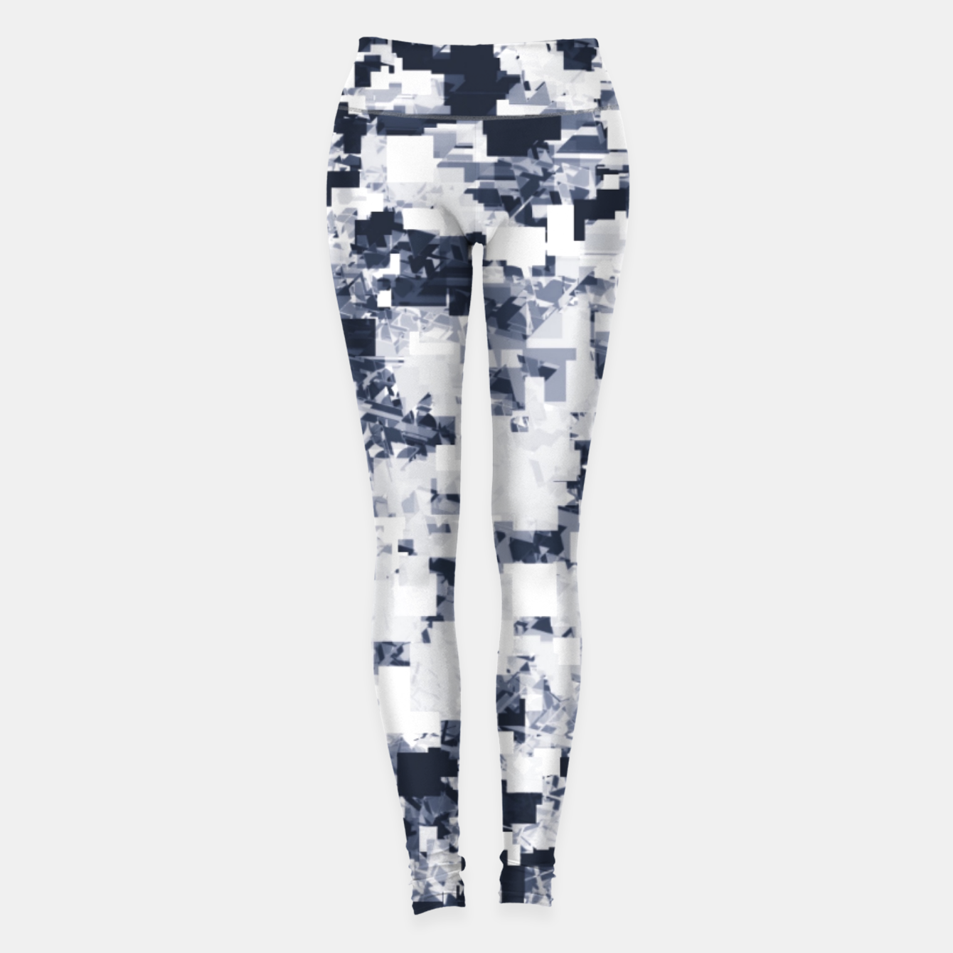 Foto geometric square pattern abstract background in black and white Leggings - Live Heroes