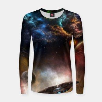 Thumbnail image of Beyond Space & Time Women sweater, Live Heroes