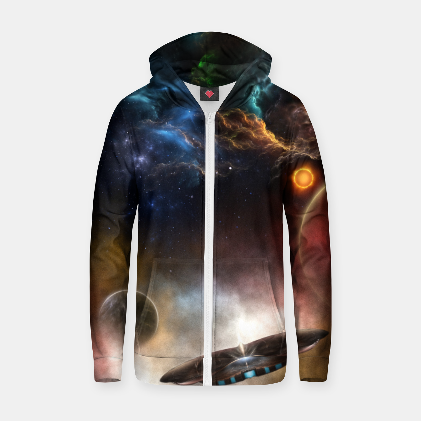 Image of Beyond Space & Time Zip up hoodie - Live Heroes
