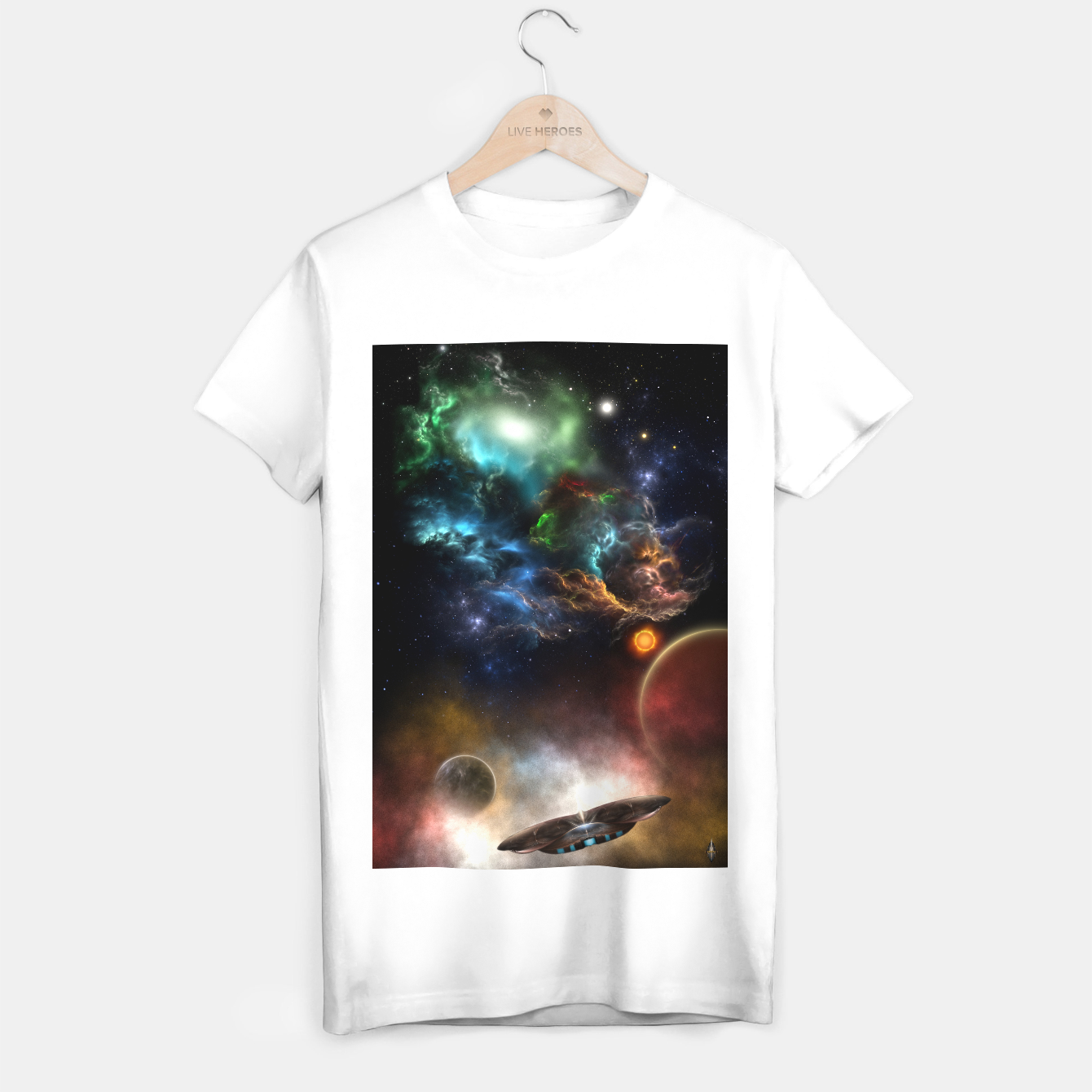 Image of Beyond Space & Time T-shirt regular - Live Heroes