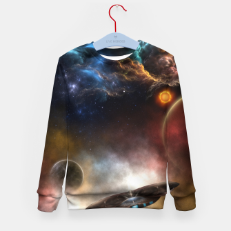 Thumbnail image of Beyond Space & Time Kid's sweater, Live Heroes