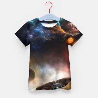 Thumbnail image of Beyond Space & Time Kid's t-shirt, Live Heroes
