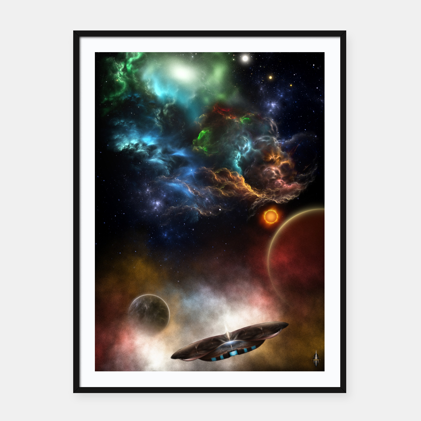 Image of Beyond Space & Time Framed poster - Live Heroes