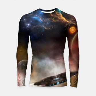 Thumbnail image of Beyond Space & Time Longsleeve rashguard , Live Heroes