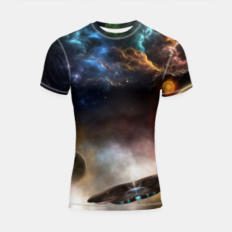 Thumbnail image of Beyond Space & Time Shortsleeve rashguard, Live Heroes