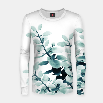 Eucalyptus Leaves Green Vibes #2 #foliage #decor #art  Frauen sweatshirt thumbnail image