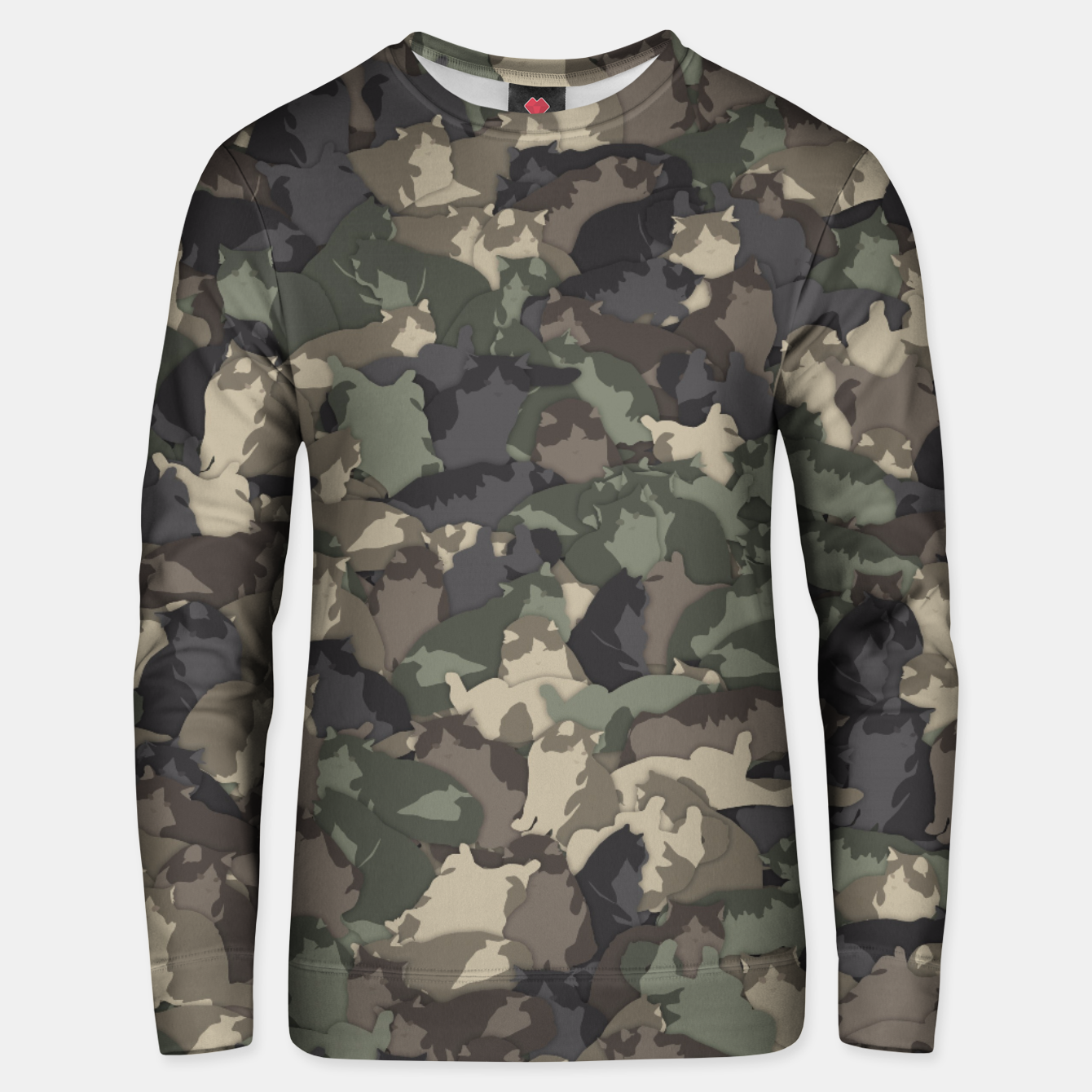 Image of Fat cats camouflage Unisex sweater - Live Heroes