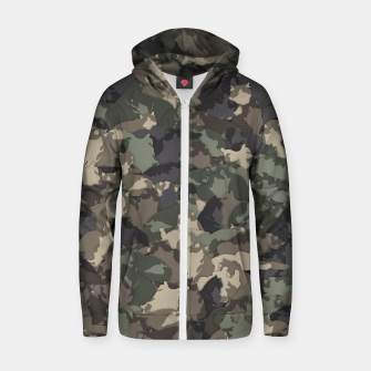 Thumbnail image of Fat cats camouflage Zip up hoodie, Live Heroes
