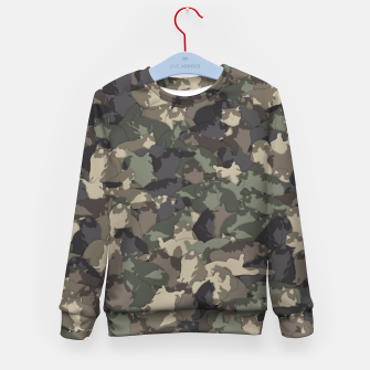 Thumbnail image of Fat cats camouflage Kid's sweater, Live Heroes