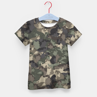 Thumbnail image of Fat cats camouflage Kid's t-shirt, Live Heroes