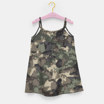 Fat cats camouflage Girl's dress thumbnail image