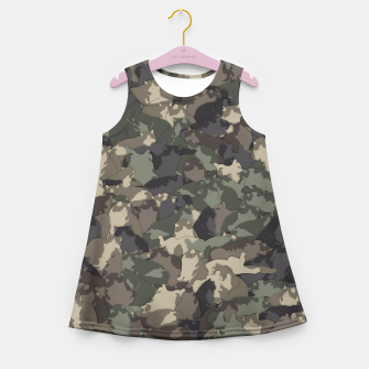 Fat cats camouflage Girl's summer dress thumbnail image