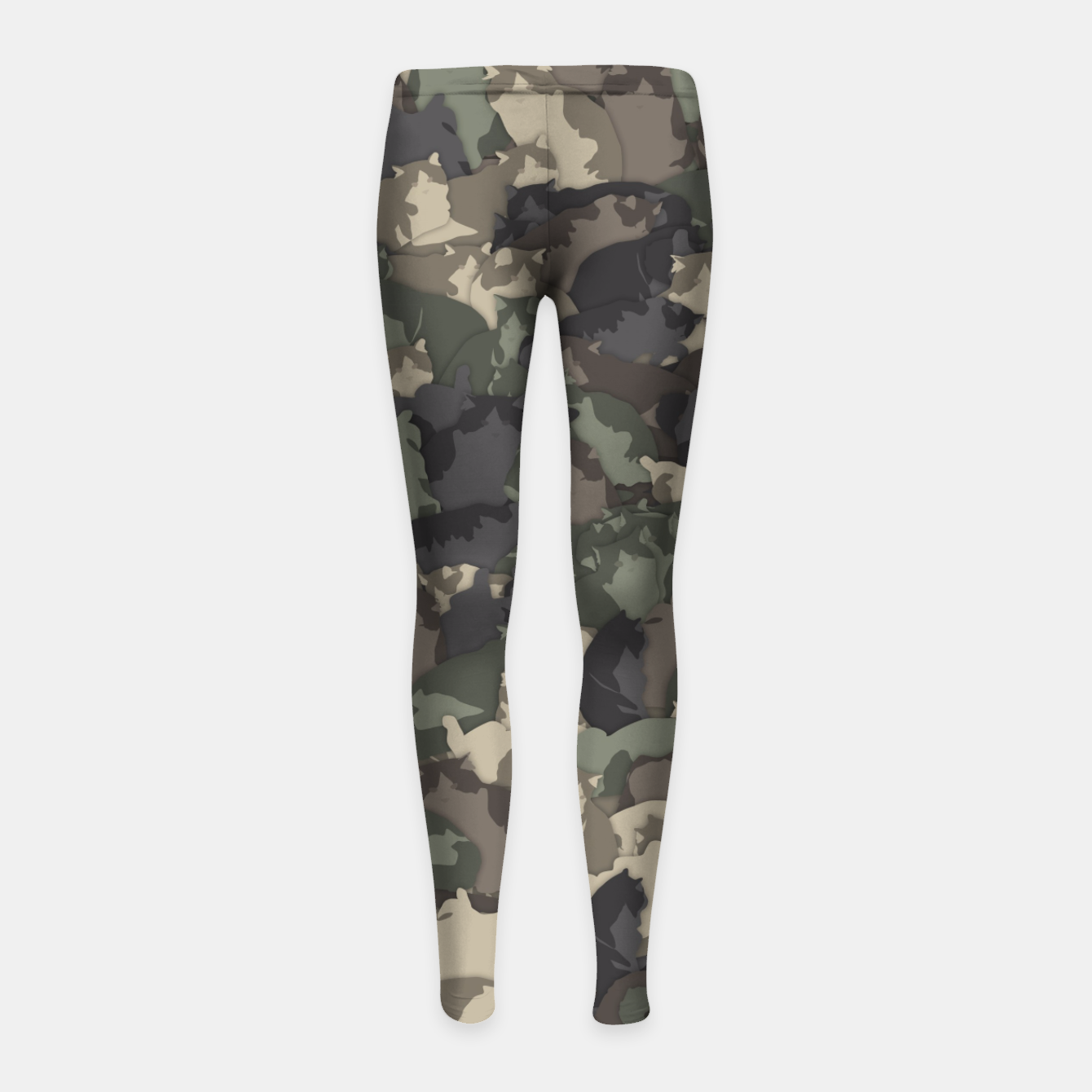 Image of Fat cats camouflage Girl's leggings - Live Heroes