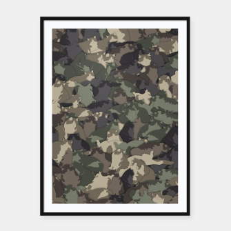 Thumbnail image of Fat cats camouflage Framed poster, Live Heroes