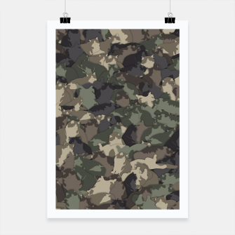 Thumbnail image of Fat cats camouflage Poster, Live Heroes